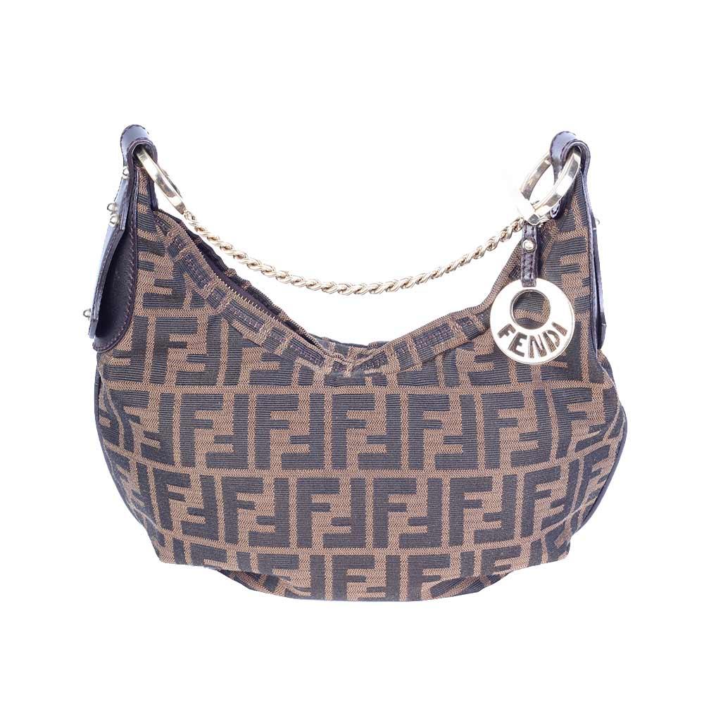 Fendi Zucca Hobo Shoulder Bag