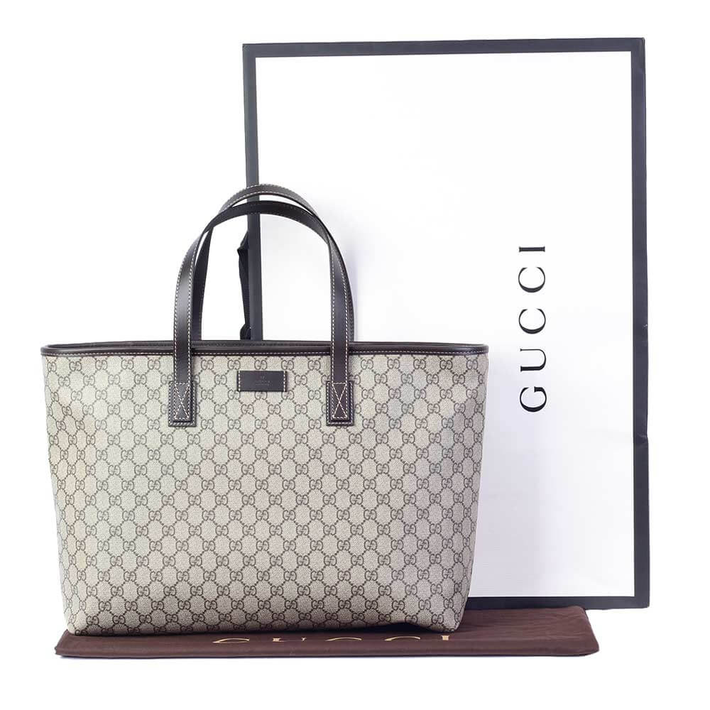 gucci monogram shopping bag