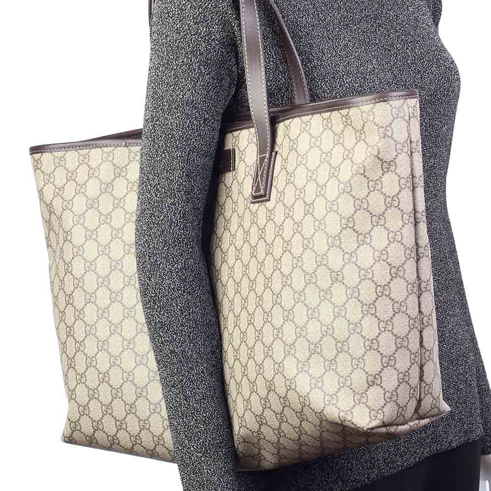 gucci new gg monogram tote large luxity