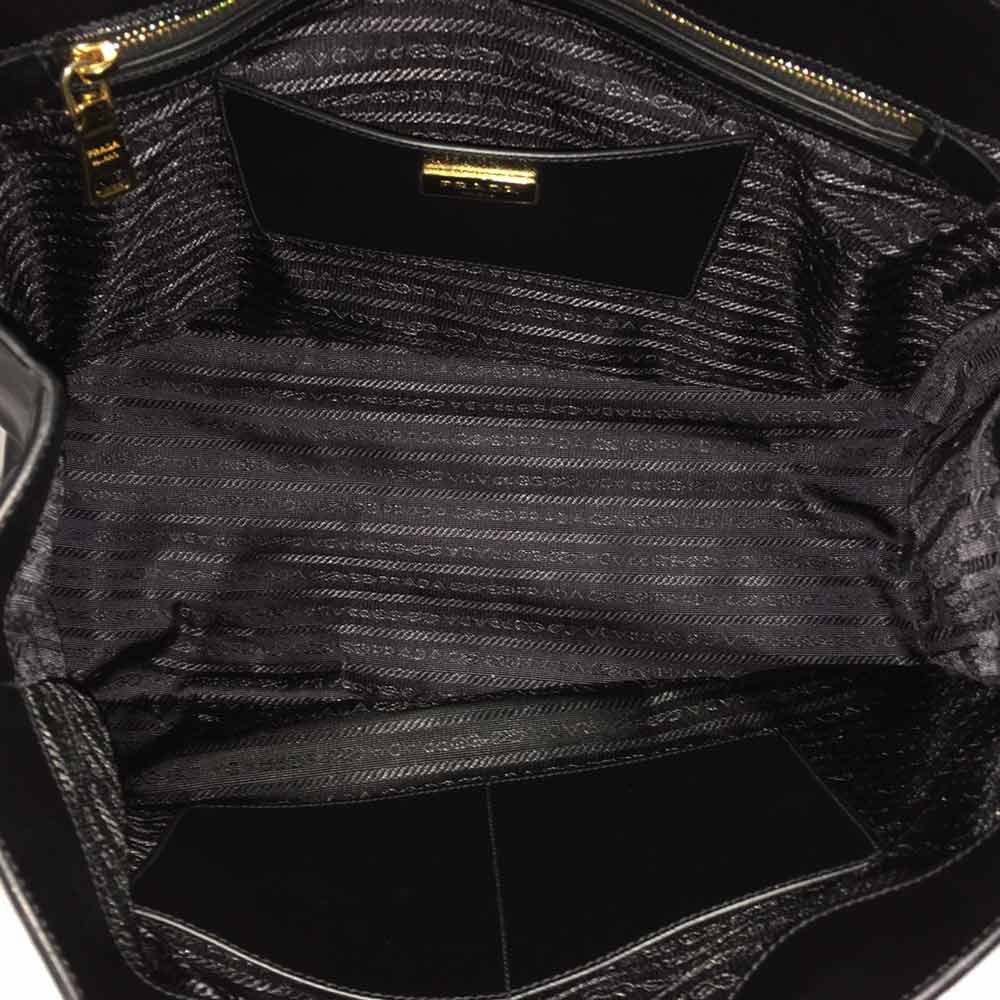 90eee832d205 PRADA Saffiano Lux Large Tote Nero Black