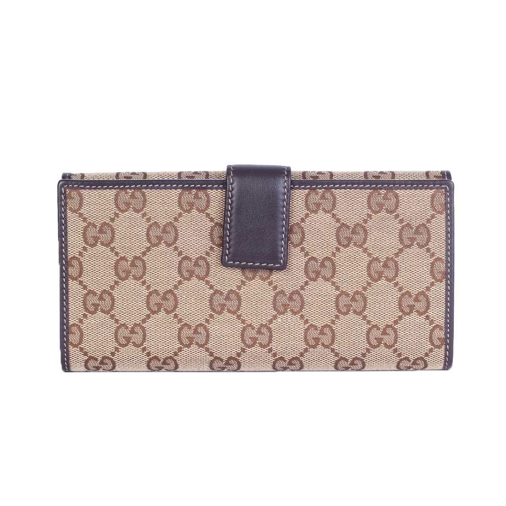 GUCCI Monogram Lovely Heart Continental Wallet Brown – NEW ...