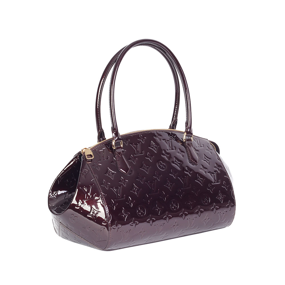 louis vuitton vernis sherwood gm amarante new luxity