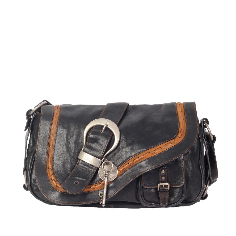 6701caaa8f6d2 CHRISTIAN DIOR Gaucho Leather Saddle Bag
