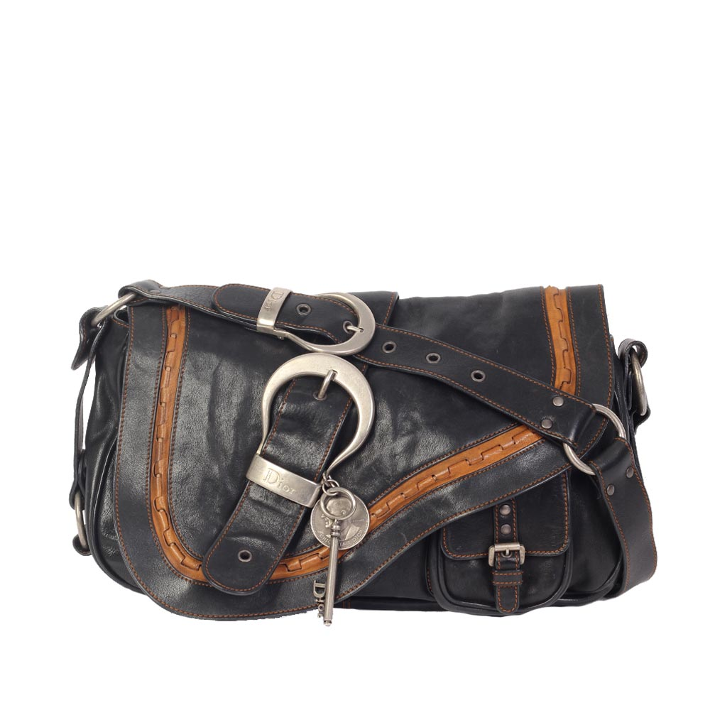 CHRISTIAN DIOR Gaucho Leather Saddle Bag  1d81fc345d364