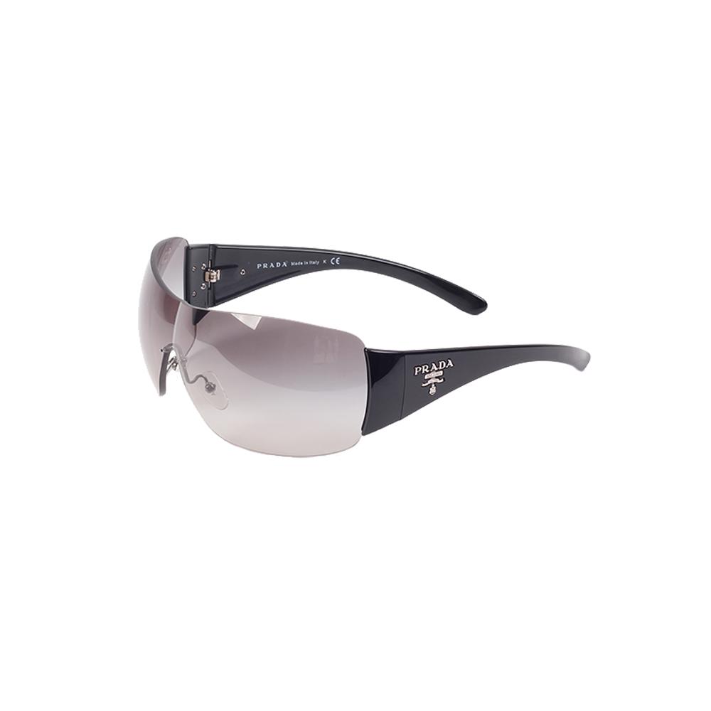 a49075b2222 ... get prada black rimless shield sunglasses spr22m efc3b eba09 ...