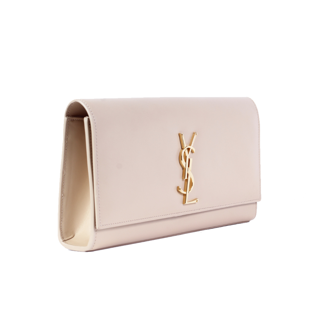 286612f518866 YVES SAINT LAURENT Monogram Sac Cassandre Clutch Nude | Luxity