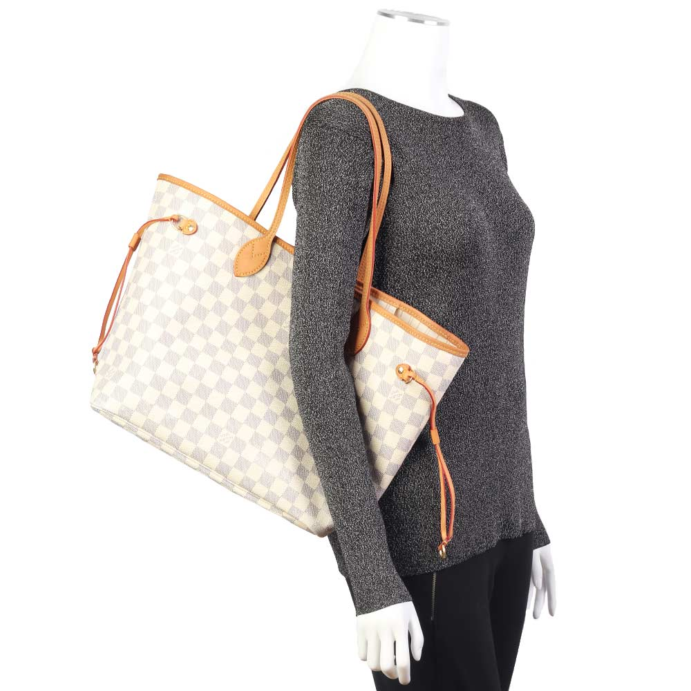 2183a032e02 LOUIS VUITTON Damier Azur Neverfull MM