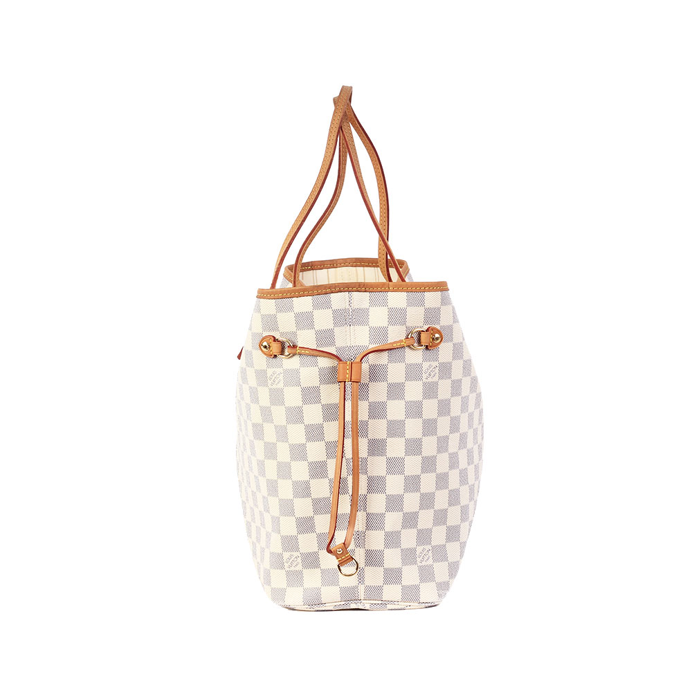 Louis Vuitton Damier Azur Neverfull Mm Luxity 47ee272af9e4a