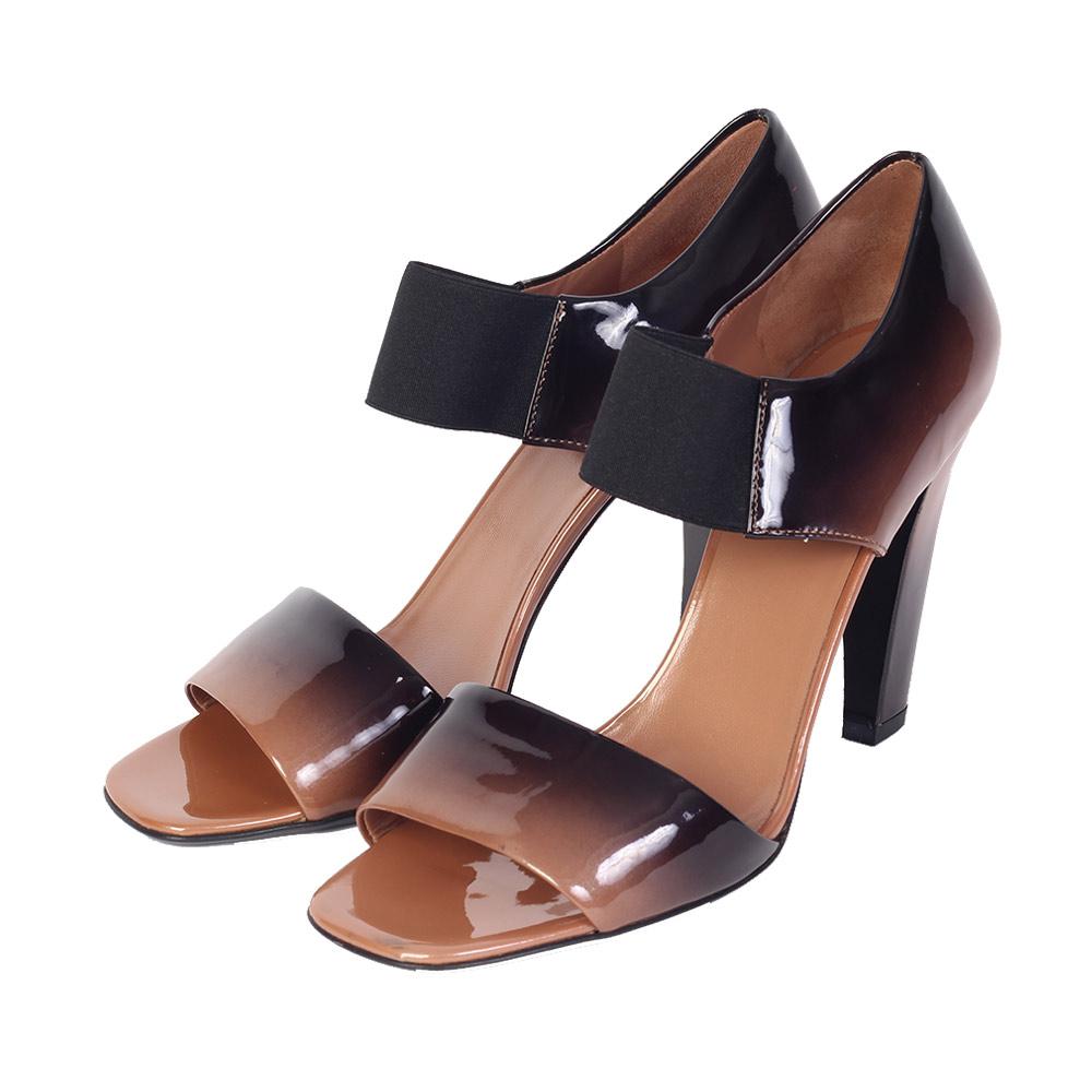 PRADA Ombre Patent Leather Banana Block Sandals