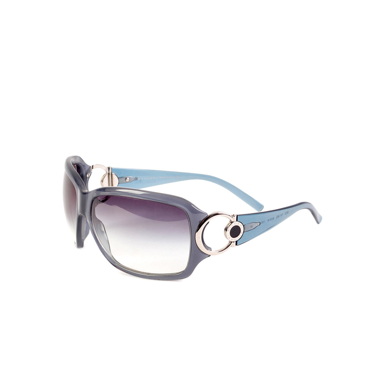 a8e114c1ceb BVLGARI Oversized Acetate Sunglasses Smoke Blue