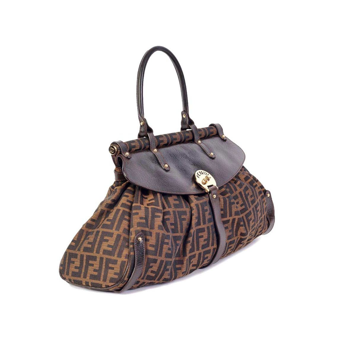 a501968524f6 FENDI Zucca Magic Bag Tobacco Medium