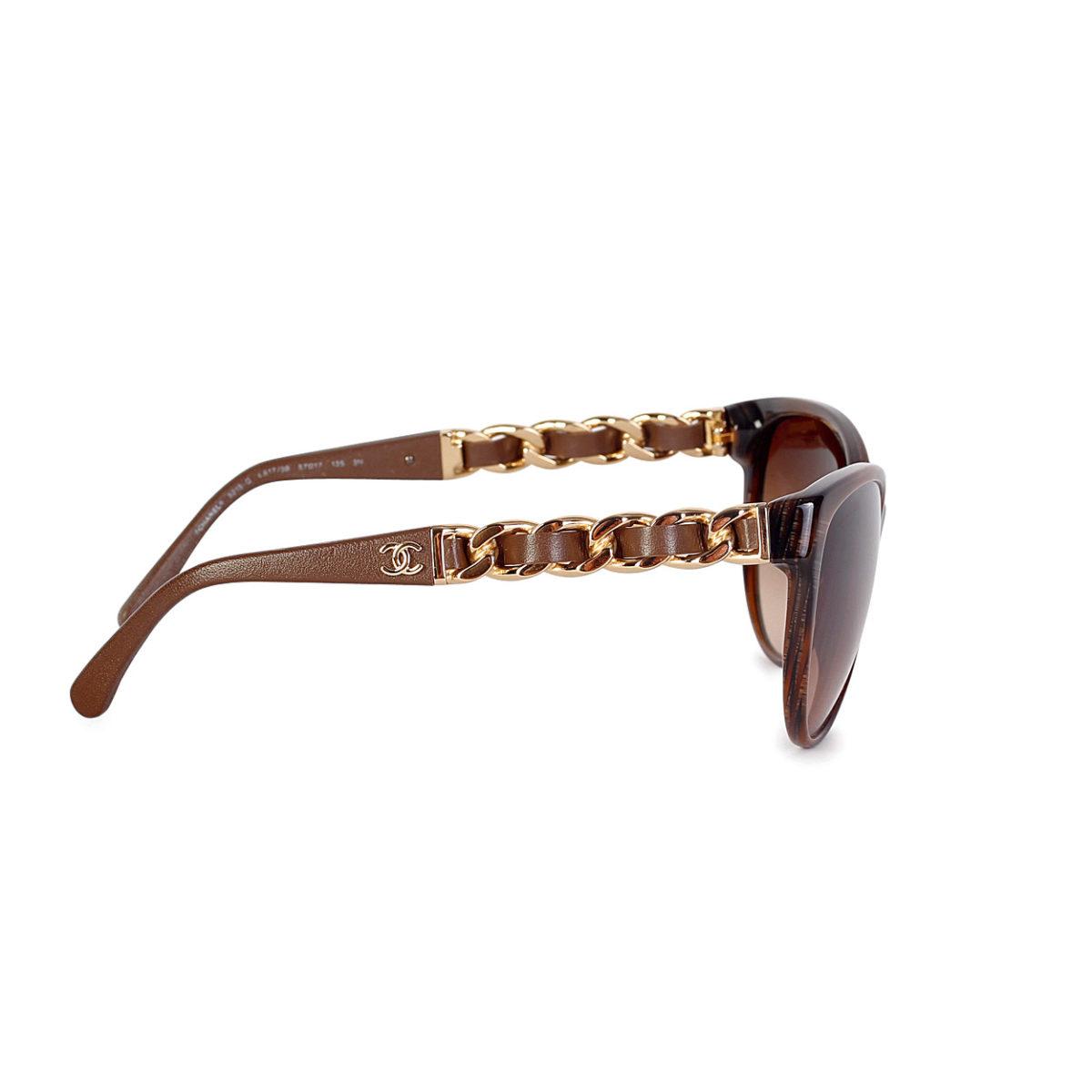 ba9f1e487b CHANEL Butterfly Chain Sunglasses Light Tortoise – NEW