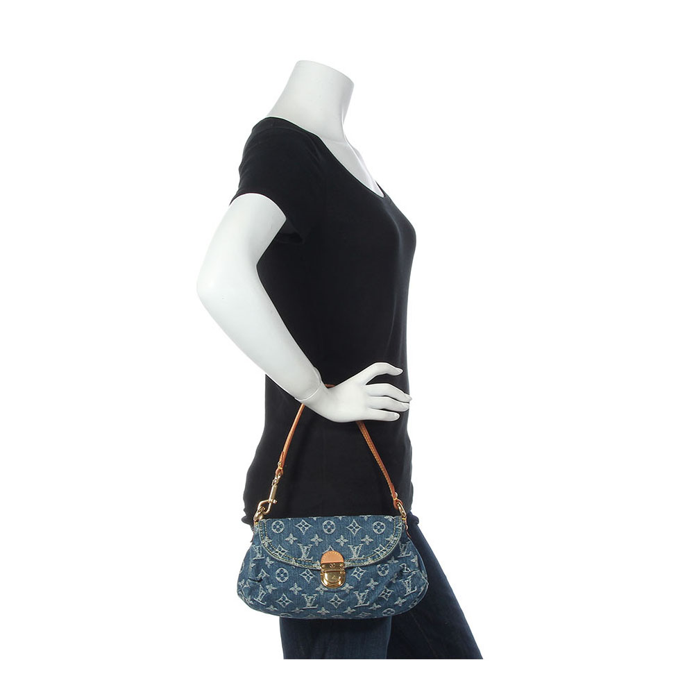 f47ad2de81d LOUIS VUITTON Monogram Denim Mini Pleaty – NEW | Luxity