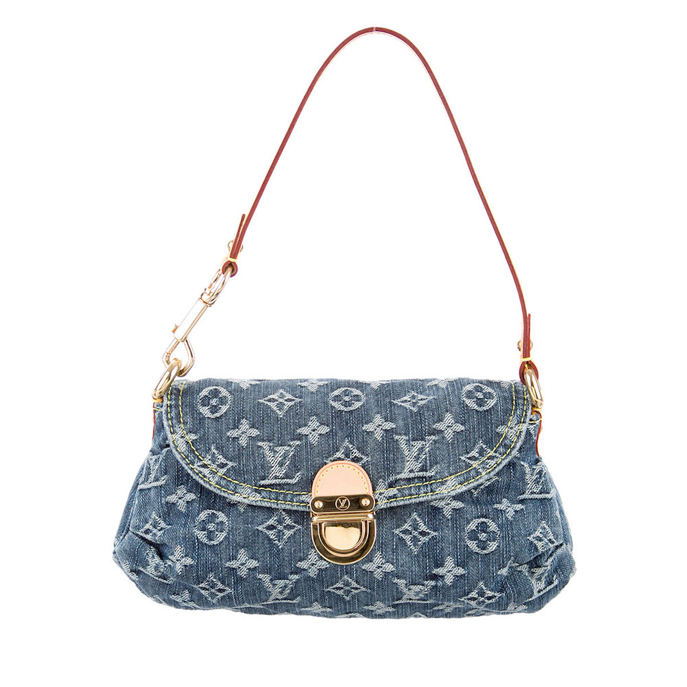24b7ab5f3015 LOUIS VUITTON Monogram Denim Mini Pleaty – NEW