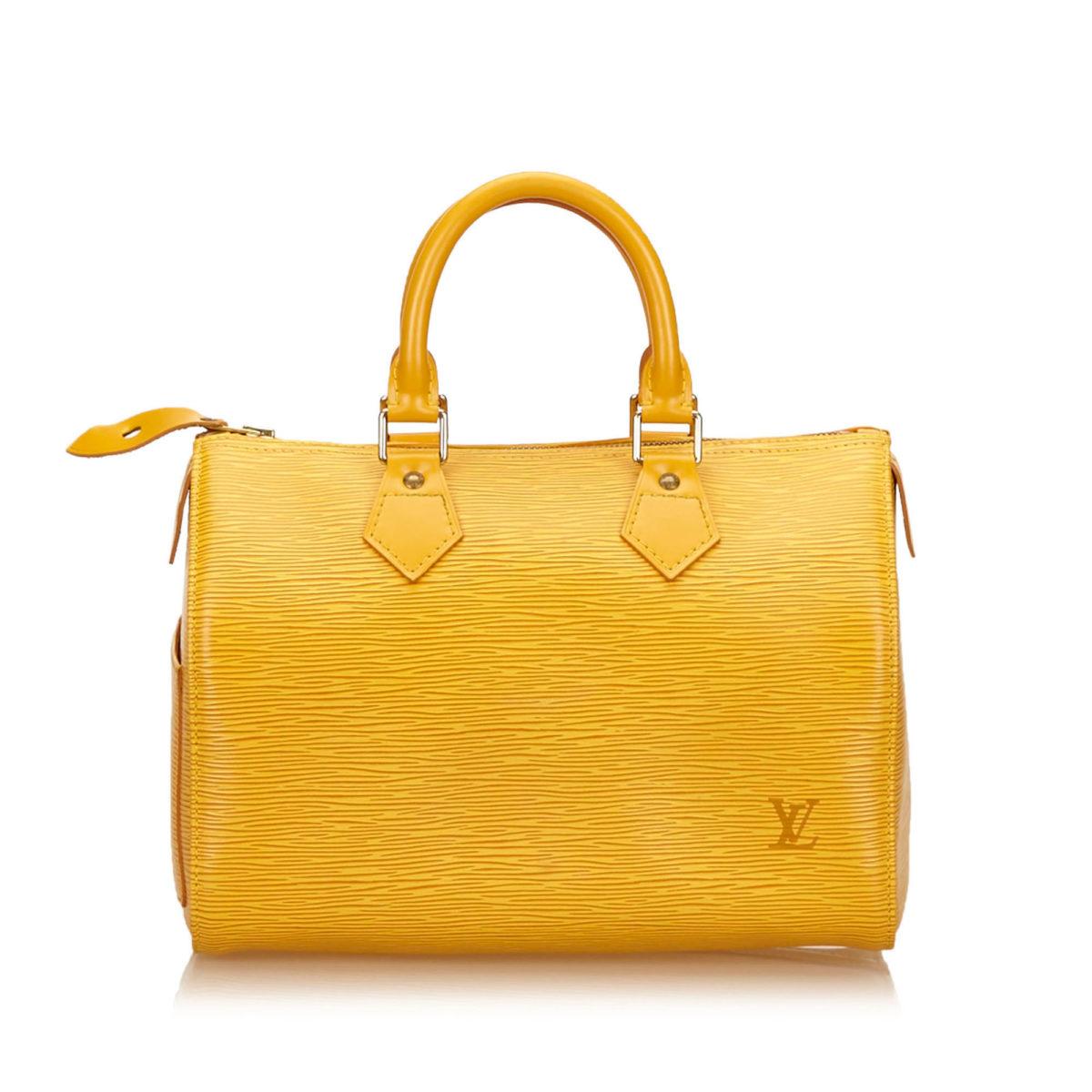 LOUIS VUITTON Yellow Epi Speedy 25  770702648eb0