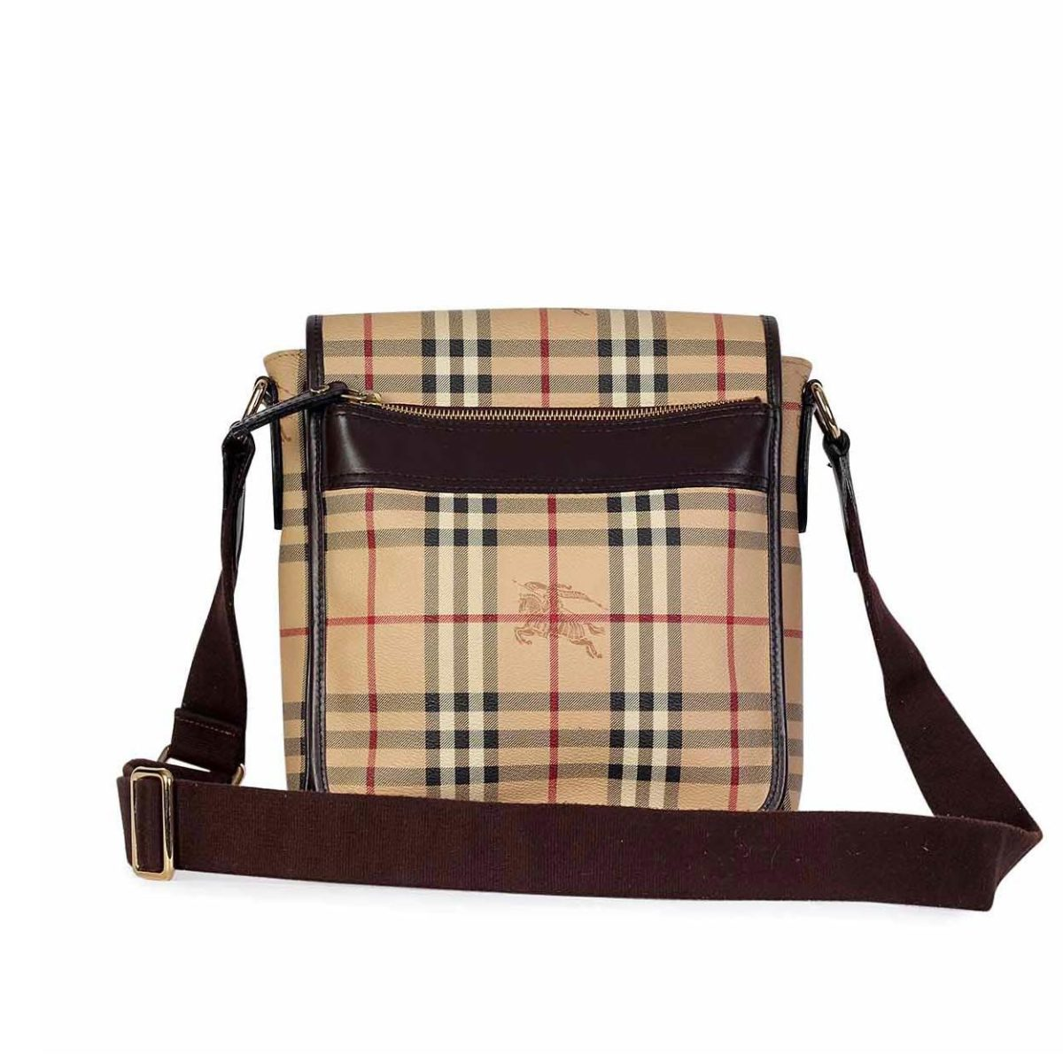 b36b1bca0cc8 BURBERRY Haymarket Check Coated Canvas Wardour Messenger