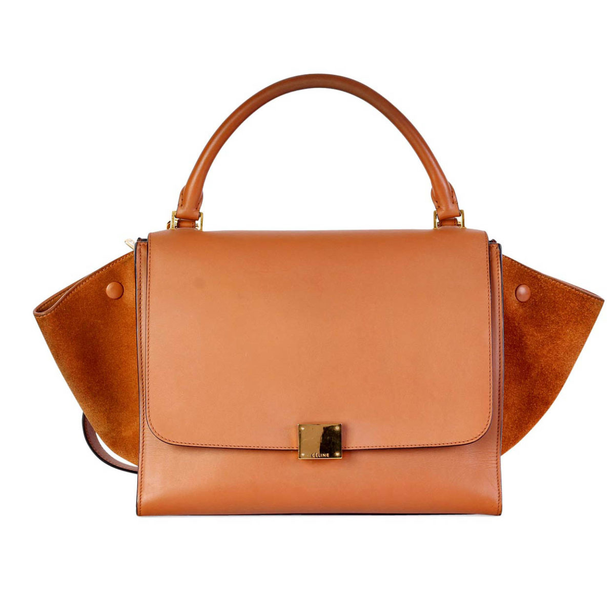 200c63b82d14 CELINE Medium Trapeze Bag Brown