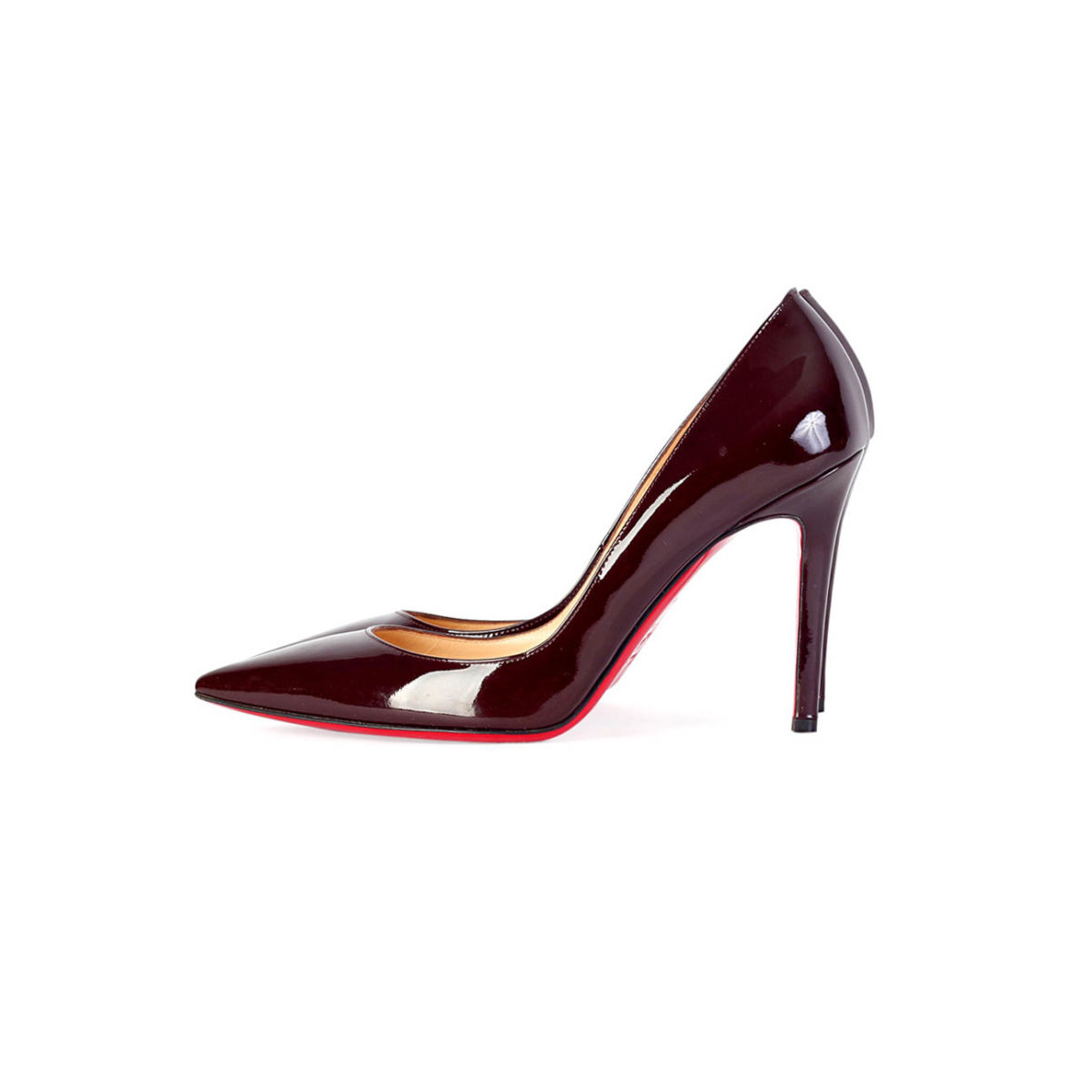 cheap for discount 66ac1 8575e CHRISTIAN LOUBOUTIN Pigalle 100mm Patent Leather Shoes maroon – S: 37.5  (4.5)
