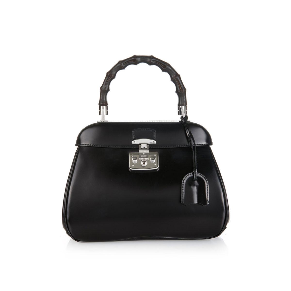 Gucci Medium Lady Lock Bamboo Handle Bag New Luxity Alma Mini