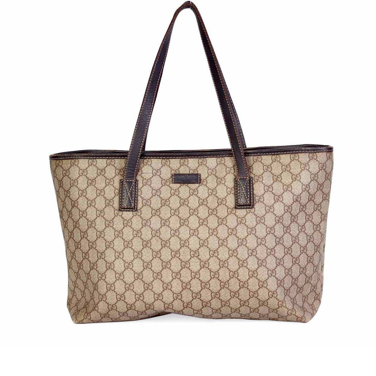 a42baecba1a9 GUCCI Monogram Top-Zip Tote Bag | Luxity