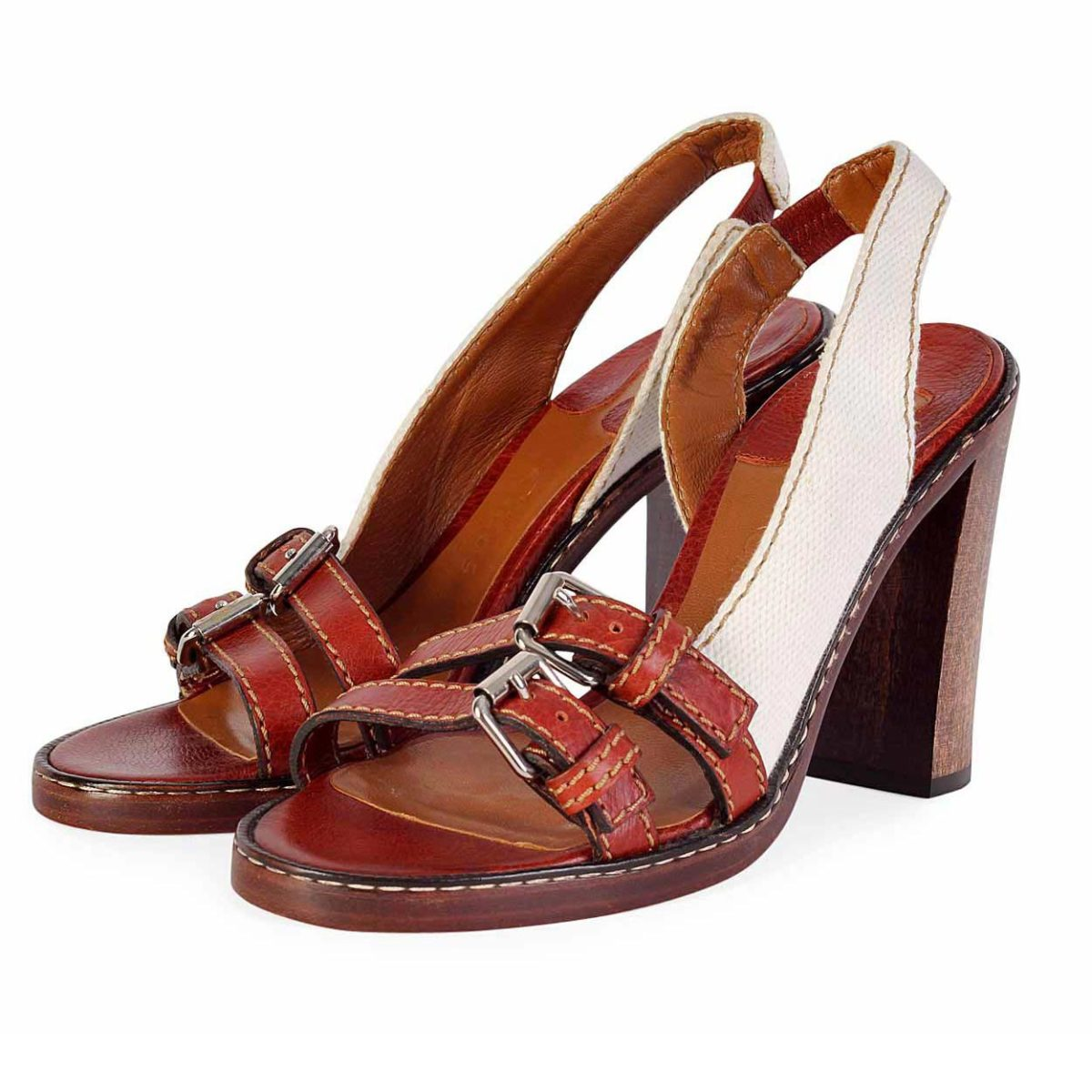 S385Luxity Wood Heel Chloe Sandals Slingback 0PNOkw8nXZ