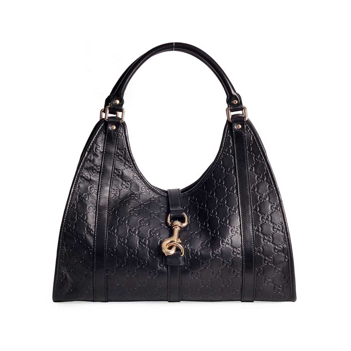 b856d3e52cee GUCCI Guccissima Black Leather Medium Joy Shoulder Bag - NEW | Luxity