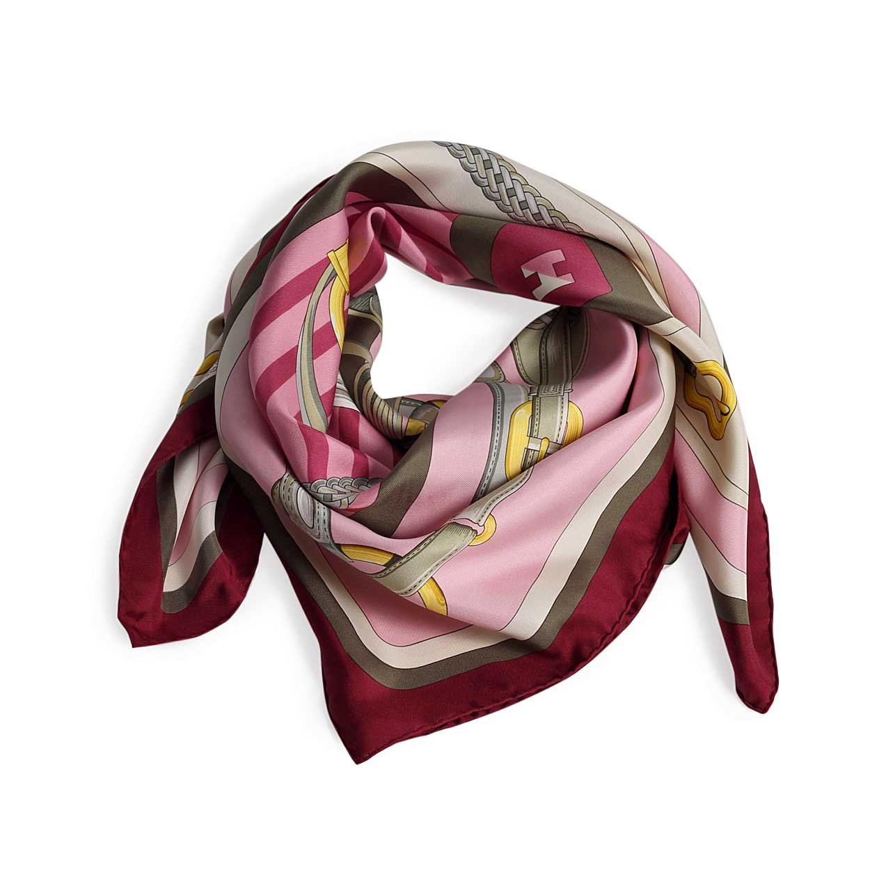 Com: HERMES Silk Scarf Coaching