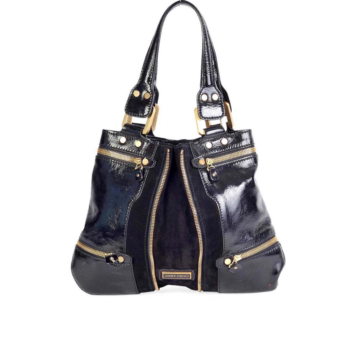 c39b9649538 JIMMY CHOO Mona Tote Bag Black | Luxity