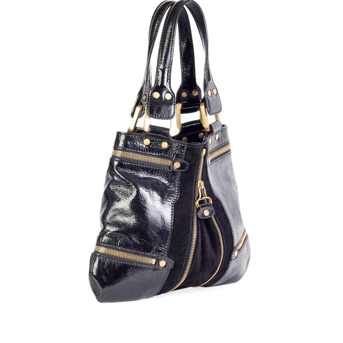 b5dae4036a JIMMY CHOO Mona Tote Bag Black