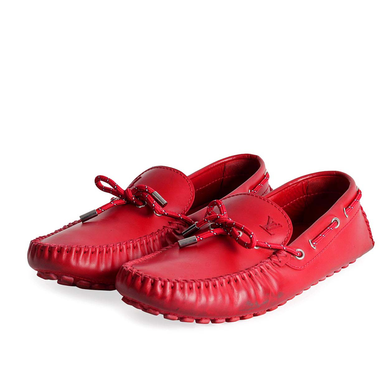Louis Vuitton Arizona Mens Car Shoe Red S 44 9 5