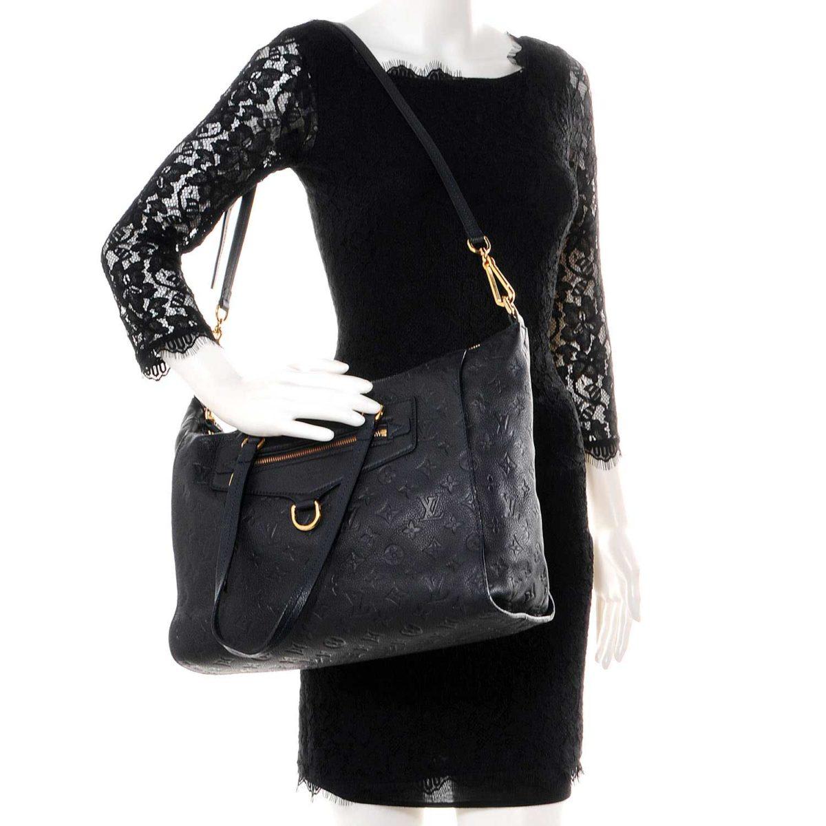 Louis Vuitton Monogram Empreinte Lumineuse Pm Black Noir Luxity