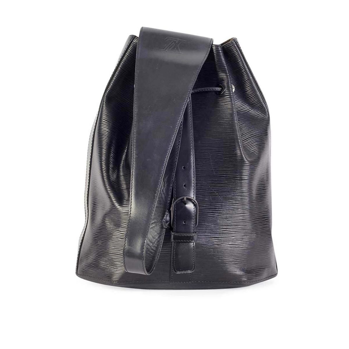 decaa361b4 LOUIS VUITTON Vintage Epi Sac à Dos Drawstring Black/Noir | Luxity