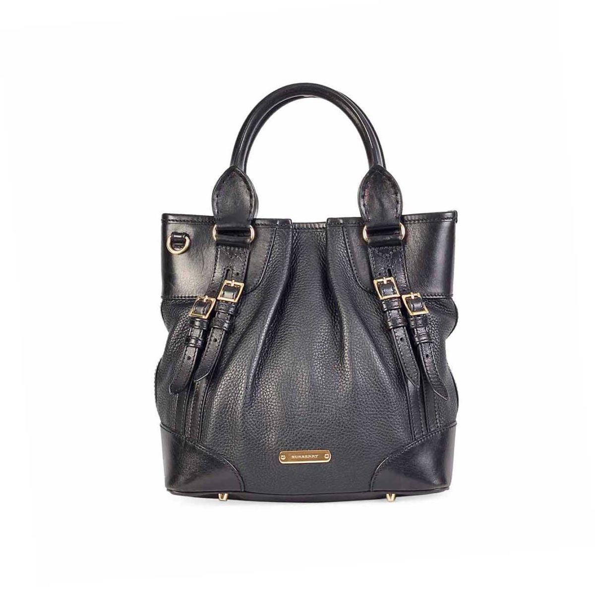 81d9b7277725 BURBERRY Grained Leather Bucket bag
