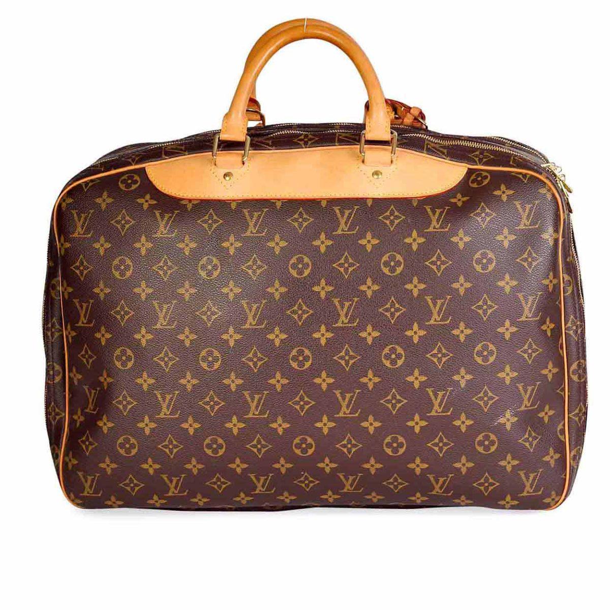 louis vuitton monogram vintage alize 2 poches travel bag luxity. Black Bedroom Furniture Sets. Home Design Ideas