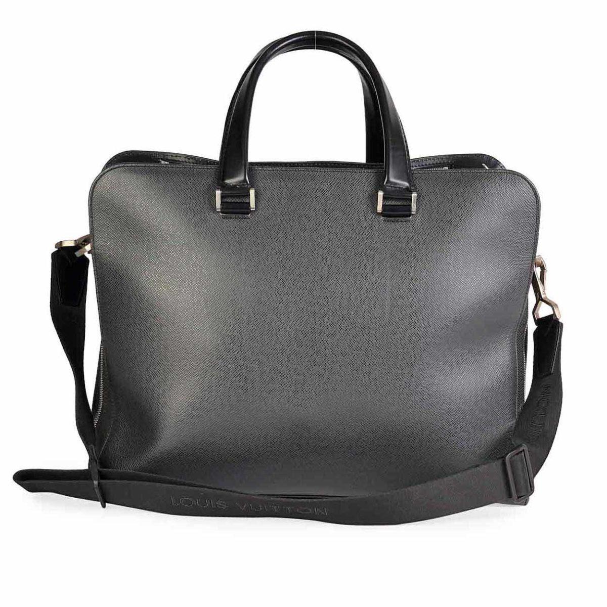 ef0f146d9a33 LOUIS VUITTON Black Taiga Briefcase
