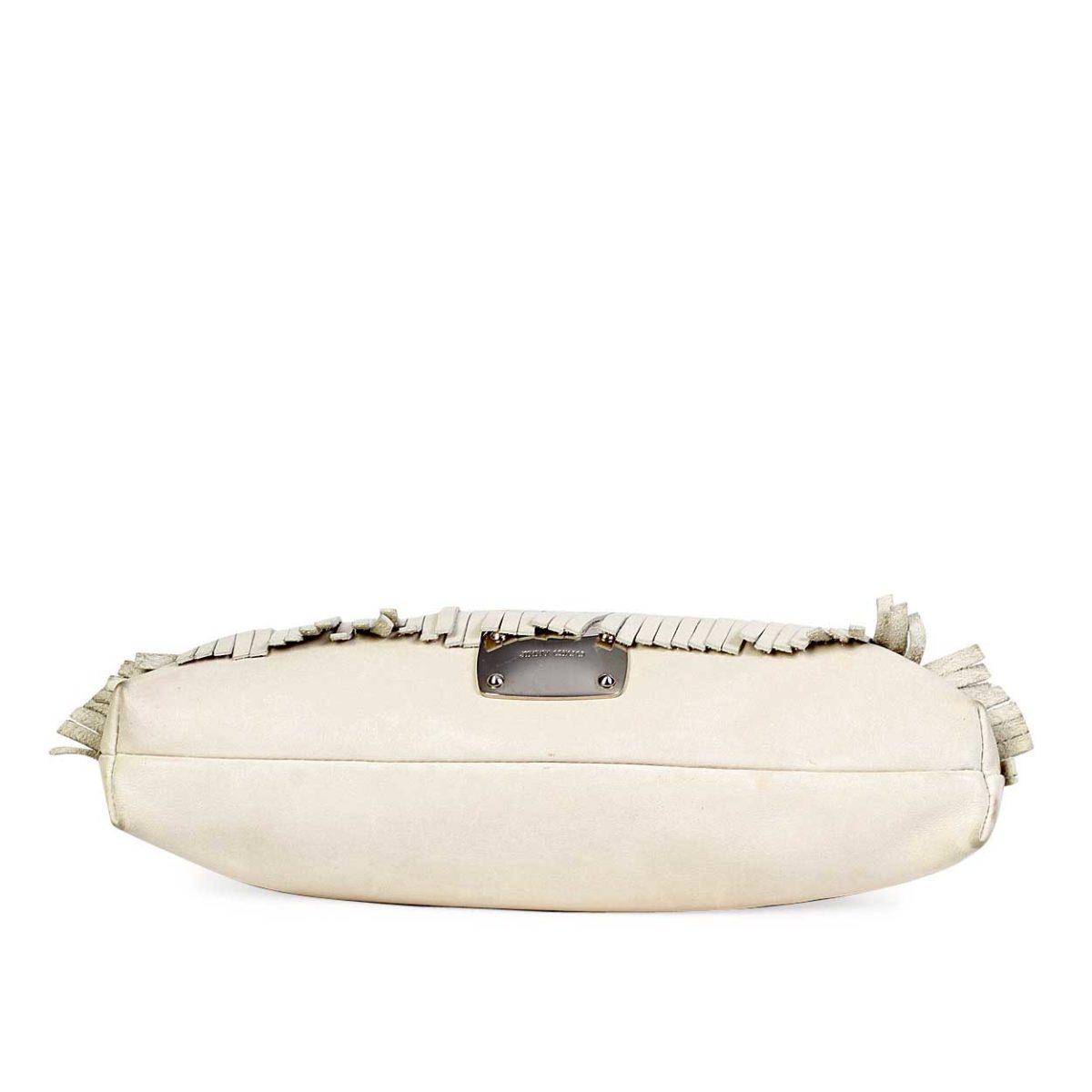 601d9faac1 JIMMY CHOO White Star Embellished Fringe Shoulder Bag | Luxity
