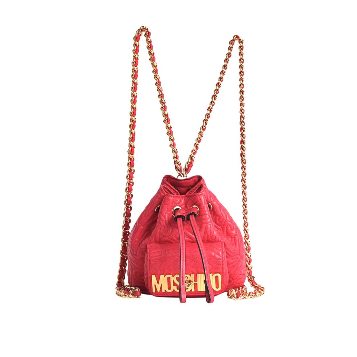 35177e0492015 MOSCHINO Mini Logo Bucket Backpack
