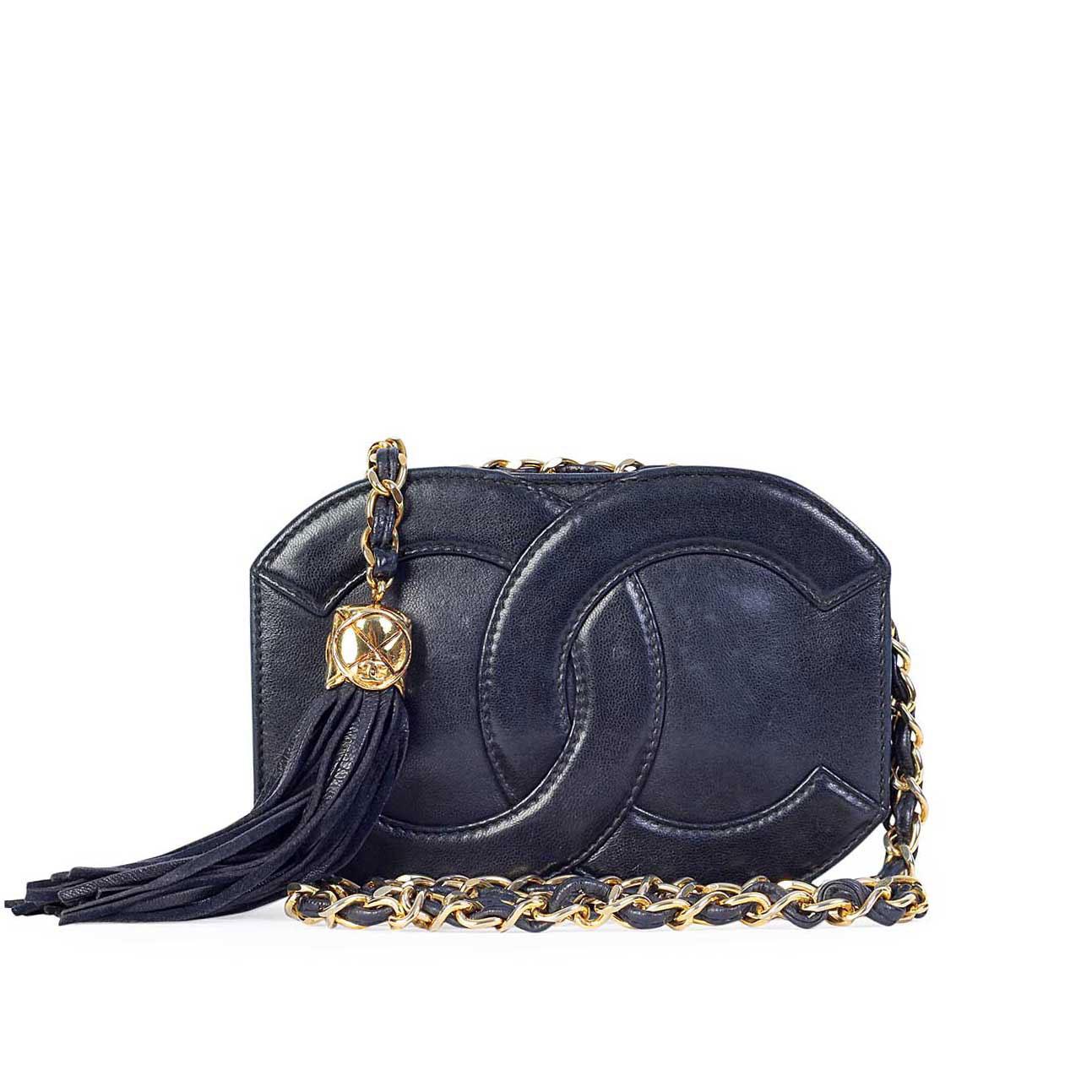 Chanel vintage cc mini tassel shoulder bag luxity - Vintage chanel ...