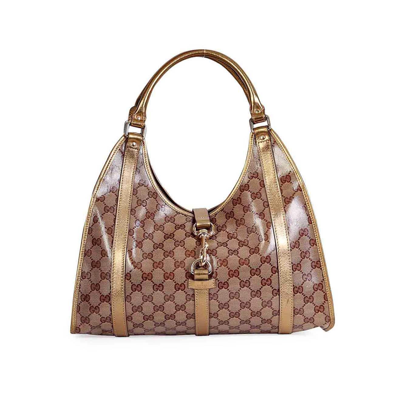 959d9e12004d GUCCI Vintage Leather Jackie O Bag Black | Luxity