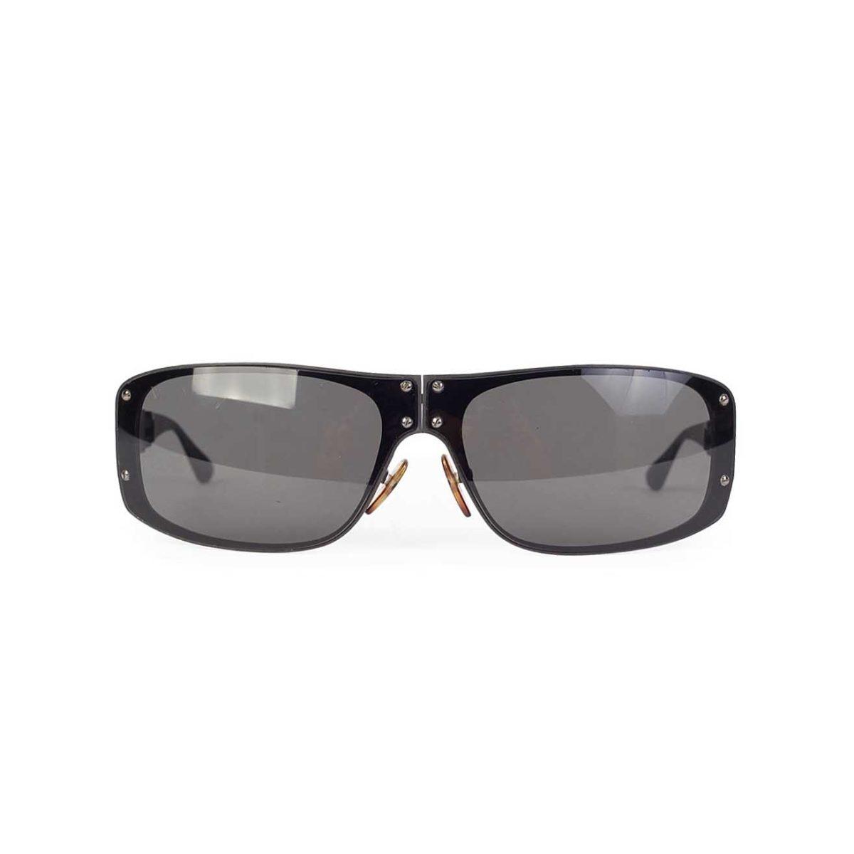d9b1a0fc31c6 LOUIS VUITTON Men s Folding Evasion Sunglasses w Damier Graphite Case