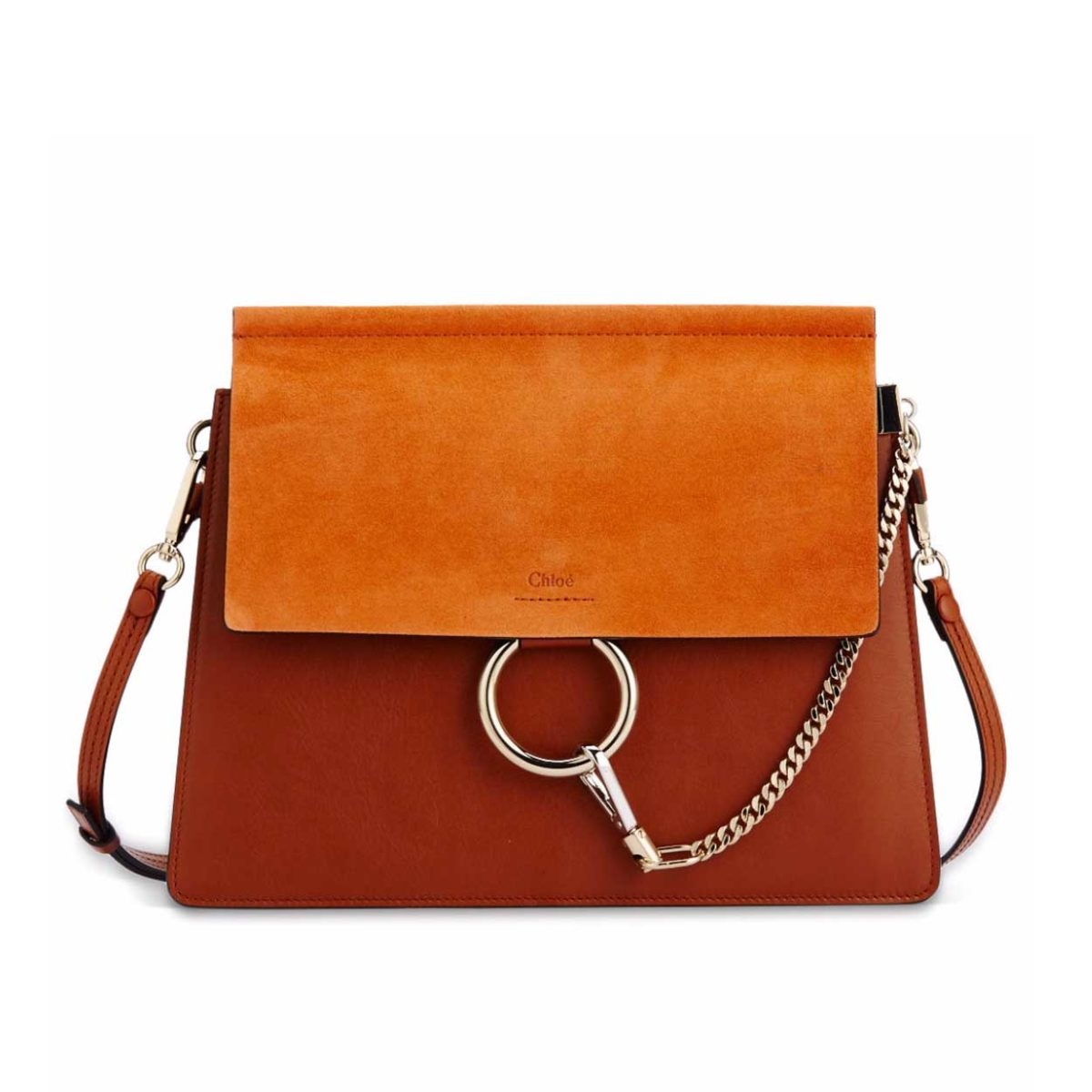 bbcc337d047 CHLOE Suede & Leather Faye Shoulder Bag Medium - NEW | Luxity