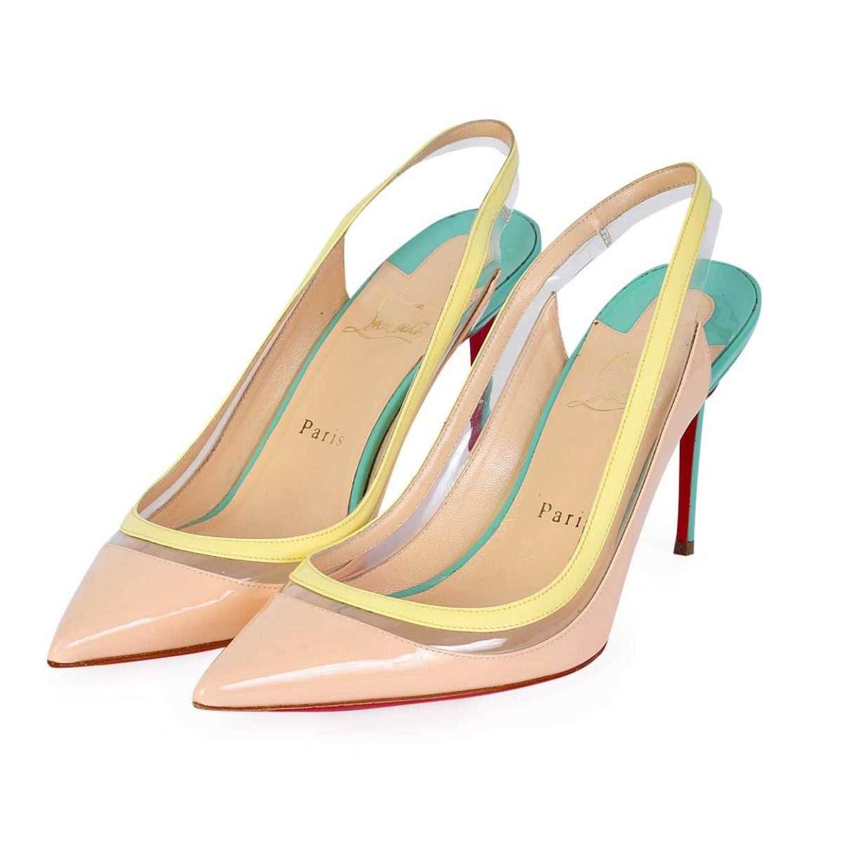 factory price 35bf8 7f05c CHRISTIAN LOUBOUTIN Patent Leather & PVC Paulina 85 Pumps - S: 39 (6)