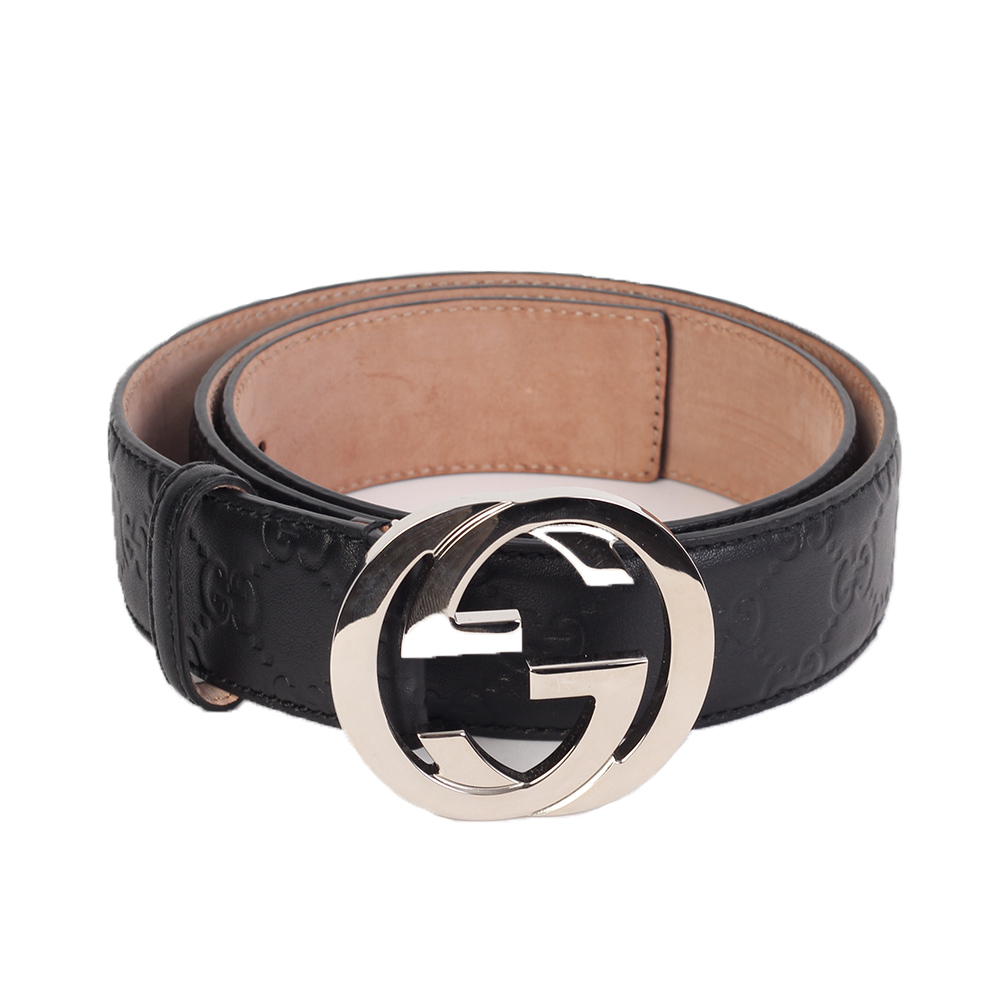 aebb6cd04010 HERMES Reversible Black/Orange Leather Gold Initial Unisex Belt - S ...
