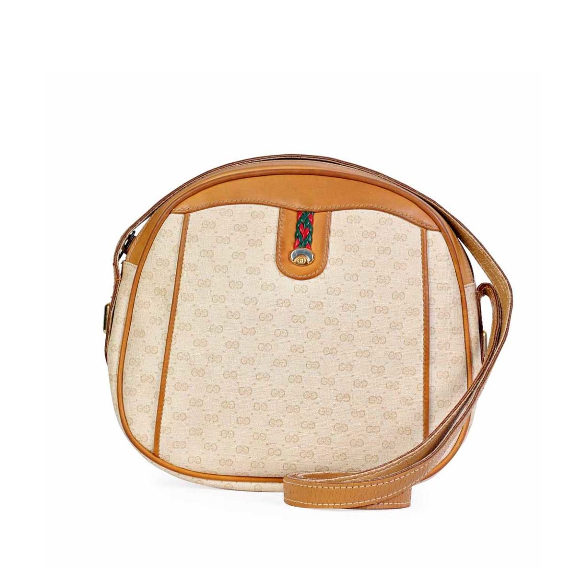 lowest discount new selection wholesale GUCCI Vintage GG Cream Crossbody
