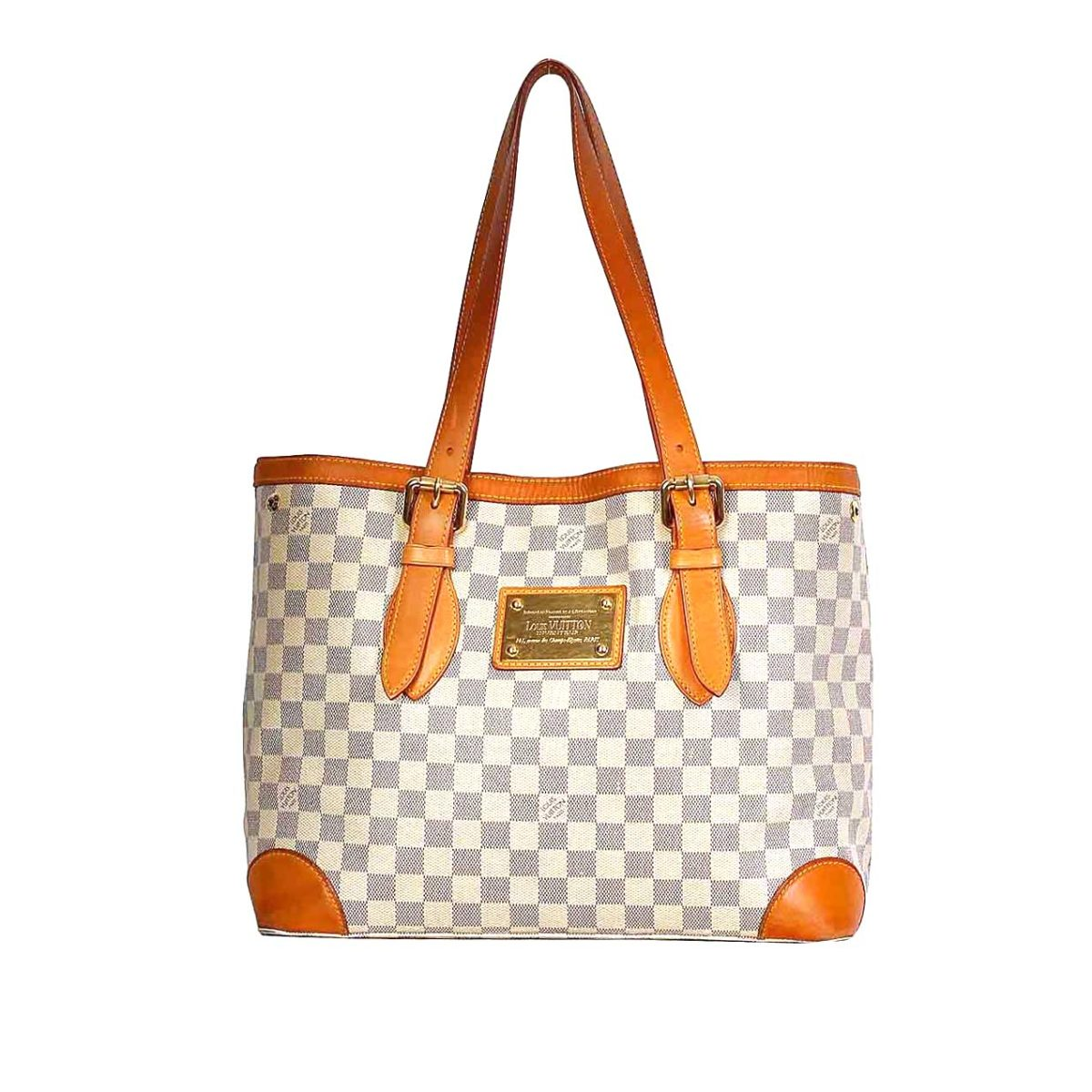 LOUIS VUITTON Damier Azur Hampstead MM  c43151fef