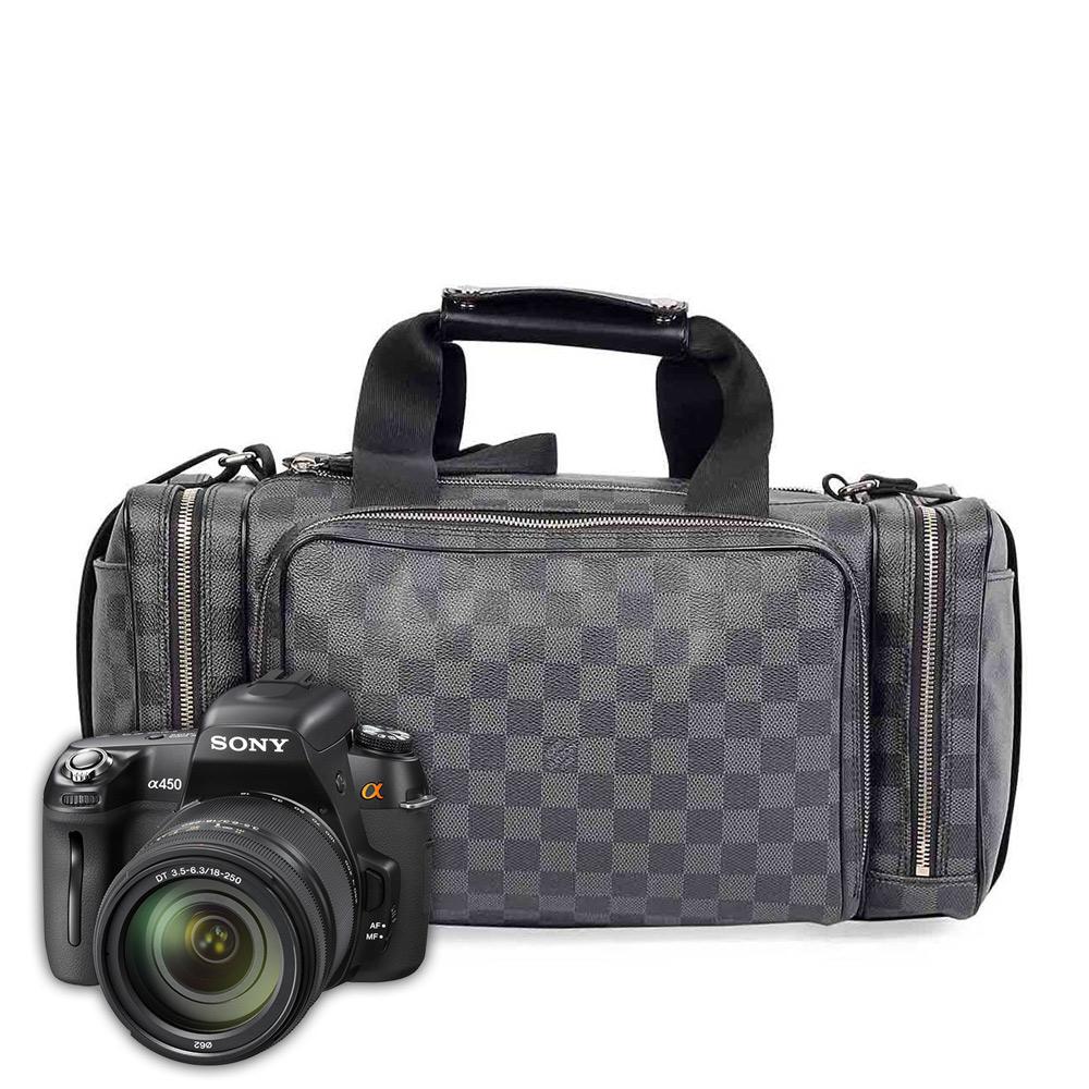 online store 55e7f e2cea LOUIS VUITTON Damier Graphite iCare Camera Bag