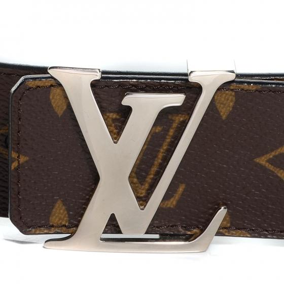 LOUIS VUITTON Monogram LV Initials Reversible 40mm Unisex Belt - S: 95 (38)  - NEW