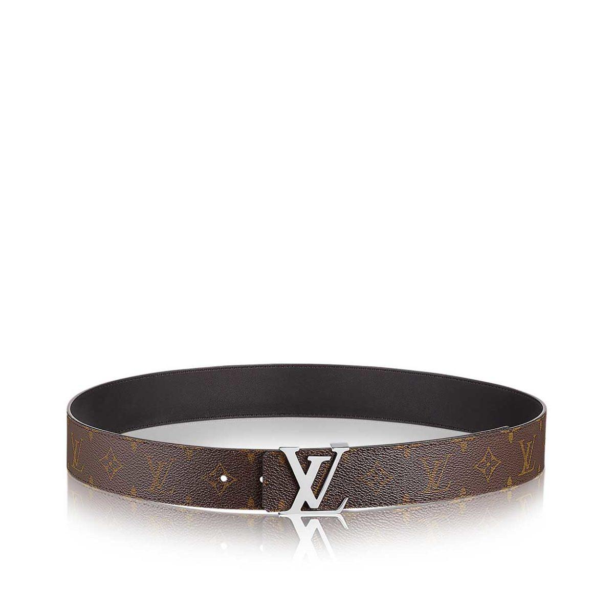 louis vuitton monogram lv initials reversible 40mm unisex belt - s  95  38