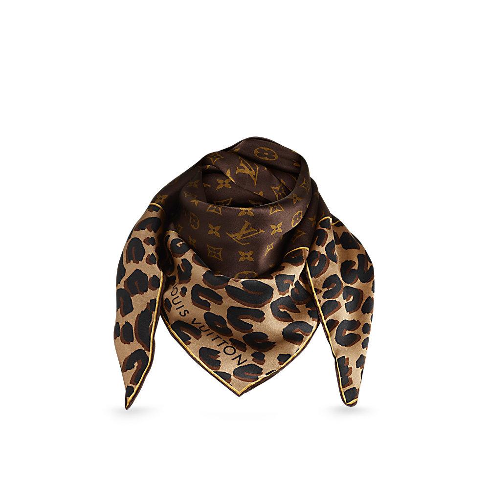 LOUIS VUITTON Monogram Leopard Silk Scarf - Limited Edition 826e0f4e21f