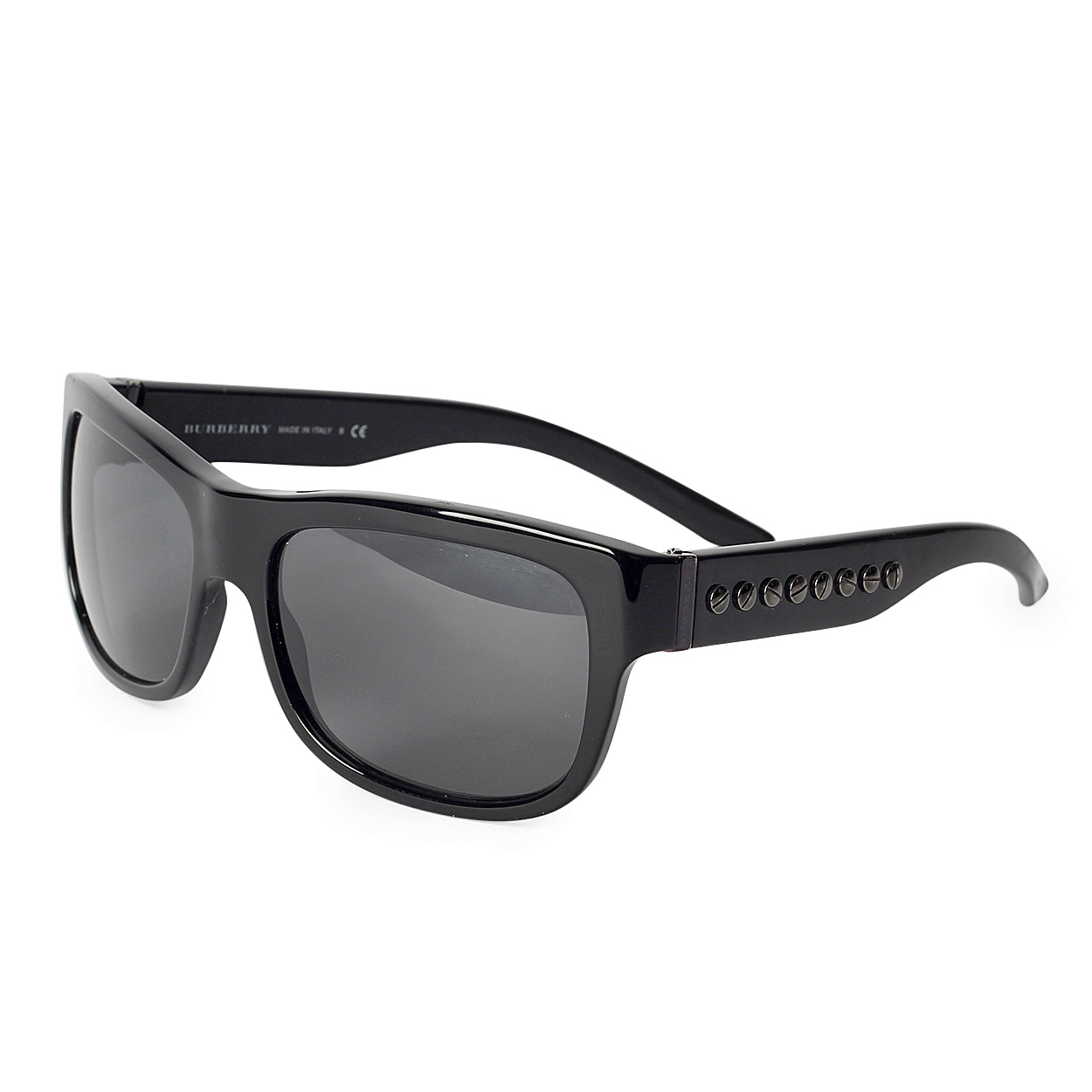 Glasses Small Frame : BURBERRY Black Small-frame Sunglasses B4094 - Luxity